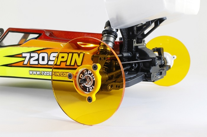 720Spin 1/10TH Buggy Camber Wheels Amber