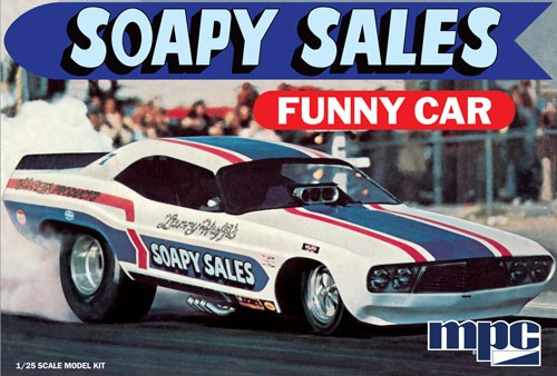 MPC 831 1/25 Soapy Sales Dodge Challenger Funny Car