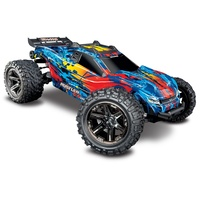 Traxxas 1/10 Rustler 4x4 Electric Brushless RC Stadium Truck RED