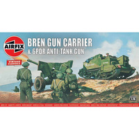 AIRFIX BREN GUN CARRIER & 6PDR AT GUN 1:76 SCALE