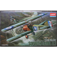 Academy 12109 1/32 Sopwith Camel F-1 Plastic Model Kit *Aus Decals*