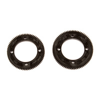 Team associated RC10B74 CENTER DIFF SPUR GEARS, 72/78 TOOTH