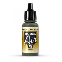 Vallejo 71410 Model Air AII Zashchitnyi Camouflage Green 17ml Acrylic Paint