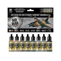 Vallejo 71616 Model Air USAF WWII to present Aggressor Squadron Part I 8 Colour Acrylic Paint Set