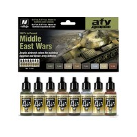 Vallejo 71619 Model Air Middle East Wars (1967's to present) 8 Colour Acrylic Paint Set