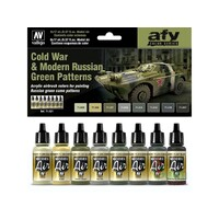 Vallejo 71621 Model Air Cold War & Modern Russian Green Patterns 8 Colour Acrylic Paint Set