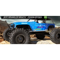 Axial 1/10 Wraith Jeep Wrangler 4WD Poison Spyder Ready To Run