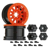 Axial 2.2 Method Beadlock Wheels, IFD, Orange, 2 Pieces, AX31364