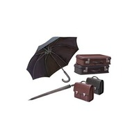 Bronco AB3521 1/35 WWII Civilian Suitcase with Umbrella Set Plastic Model Kit