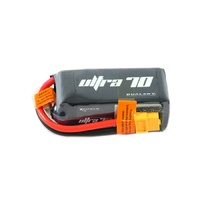 Dualsky 1300mah 4S 14.8v 70C Ultra 70 LiPo Battery with XT60 Connector