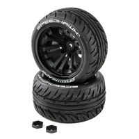 Duratrax Speedtreads Speedhawk 1/10 ST/MT Tires Mounted, 2pcs
