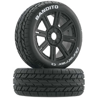 Duratrax Bandito Mounted Buggy Tire, C3 Compound, 2pcs