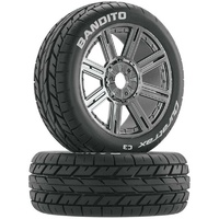 Duratrax Bandito Buggy Tire C3 Mounted Spoke Black/Chrome