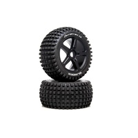 Duratrax 1/8 Blinder Truggy Tire C2 Mounted 0 Offset, 2pcs