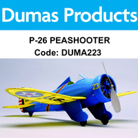 DUMAS 223 P-26 PEASHOOTER WALNUT SCALE 17.5 INCH WINGSPAN RUBBER POWERED