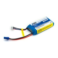 E-Flite 1300mah 2S 7.4v 20C LiPo Battery with EC2 Connector