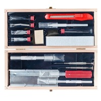 EXCEL 44286 EXCEL DELUXE KNIFE / TOOL SET IN WOOD BOX