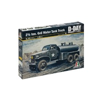 Italeri 0201 1/35 2 1/2 Ton, 6X6 Water Tank Truck Plastic Model Kit