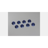 Kyosho 1-N4045F-B Nut(M4x4.5) Flanged (Steel/Blue/8pcs)