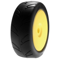 Losi 1/8 8ightH Street Onroad TireMntd, Yellow Wheel