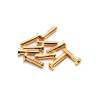 Maclan Racing MAX CURRENT 4mm Gold Bullet Connectors (10 pcs)
