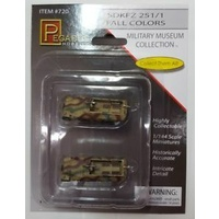 Pegasus 720 1/144 Sd. Kfz. 251/1 Fall Colors, prepainted