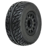 "STREET FIGHTER SC 2.2""/3.0"" STREET TIRES MTD ON RAID BLACK 6X30 REMOV HEX WHEELS (2) FOR SLASH 2WD & 4X4 FR OR RR - PR1167-10"