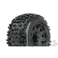 "PROLINE BADLANDS 3.8"" TIRES MOUNTED ON RAID BLACK 8X32 REMOVABLE HEX WHEELS (2) FOR 17MM MT FRONT OR REAR - PR1178-10"