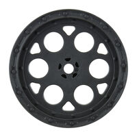 "PROLINE  Showtime 2.2"" Sprint Car 12mm Hex Rear Black Wheels (2) for Dirt Oval (using 2.2"" Buggy Rear Tires) - PR2783-03"