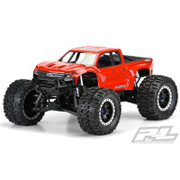 PRE-CUT 2019 CHEVY SILVERADO Z71 TRAIL BOSS CLEAR BODY FOR X-MAXX  - PR3507-17