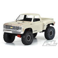 PROLINE 1978 CHEVROLET K-10 CLEAR BODY CAB AND BED FOR 12.3 INCH-313MM SCALE CRAWLERS - PR3522-00