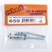 ROBART 3/16 INCH WIRE AXLE ADAPTER WITH 3/16 INCH AXLE