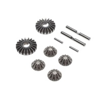 TLR Gear Set, G2 Gear Diff, Metal, 22