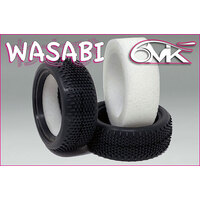 WASABI 1/10 4WD Front Tyres in YELLOW compound (1 pair + Foam)