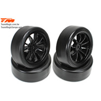 10-Spoke Mounted Tyre black E4D