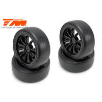 1/10 Touring mounted rubber (4pce BLK)