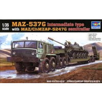 Trumpeter 00211 1/35 MAZ-537G intermediate type with MAZ/ChMZASP 5247G semi-trailer