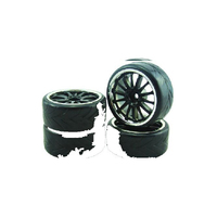 1/10 DRIFT 14-SPOKE TIRE SET 4 - VSKT637021S