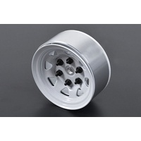 "Stamped Steel 1.55"" Stock White Beadlock Wheels"