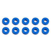 team associated Bulkhead Washers, 7.8x2.0 mm, blue aluminum