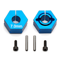 team associated FT Clamping Wheel Hexes, 7.0mm
