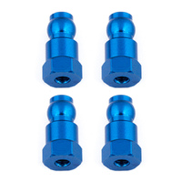 Team Associated Shock Bushings, 14 mm, blue aluminum