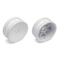 Team Associated b6d Buggy Front Hex Wheels white