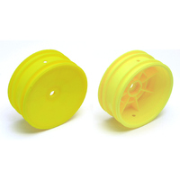 Team Associated Buggy Front Hex Wheels yellow