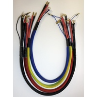 CH Banana 4.0 to 4/5mm bullet charge leads Blue