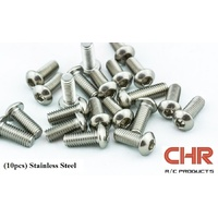 CHR Stainless Steel Screws Button Head 3mmx4mm (10pcs)