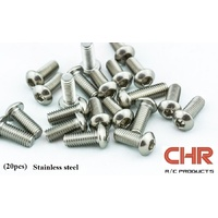 CHR Stainless Steel Screws Button Head 3mmx4mm (20pcs)