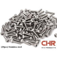 CHR Stainless Steel Screws Cap Head 3mmx12mm (20pcs)
