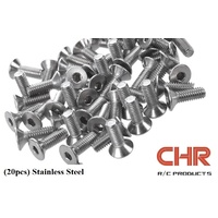CHR Stainless Steel Screws Countersunk 3mmx6mm (20pcs)