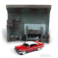 1:64 DARREL'S GARAGE W/1958 CHRISTINE